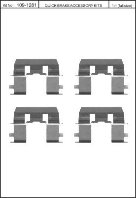 Tarvikesarja, jarrupala KAWE 109-1281