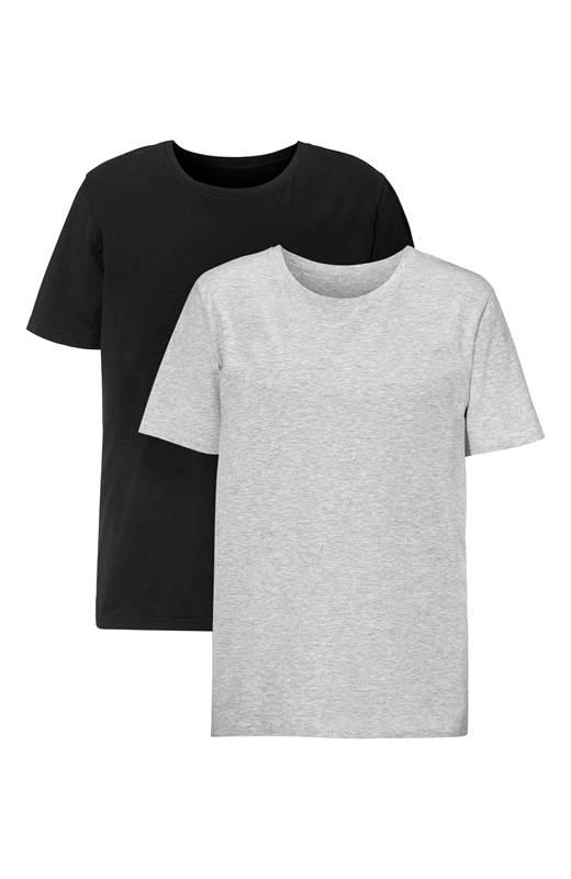 Cellbes T-shirt 2-Pack Gråmelange Svart