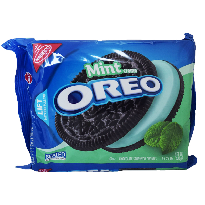 "Kakor Oreo ""Mint Creme"" 432g - 66% rabatt"