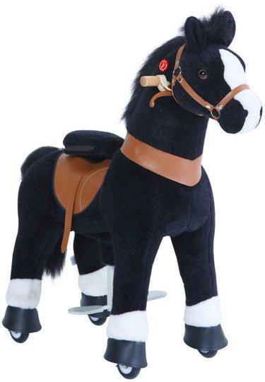 PonyCycle Ride-On Hest Med Broms, Svart/Hvit