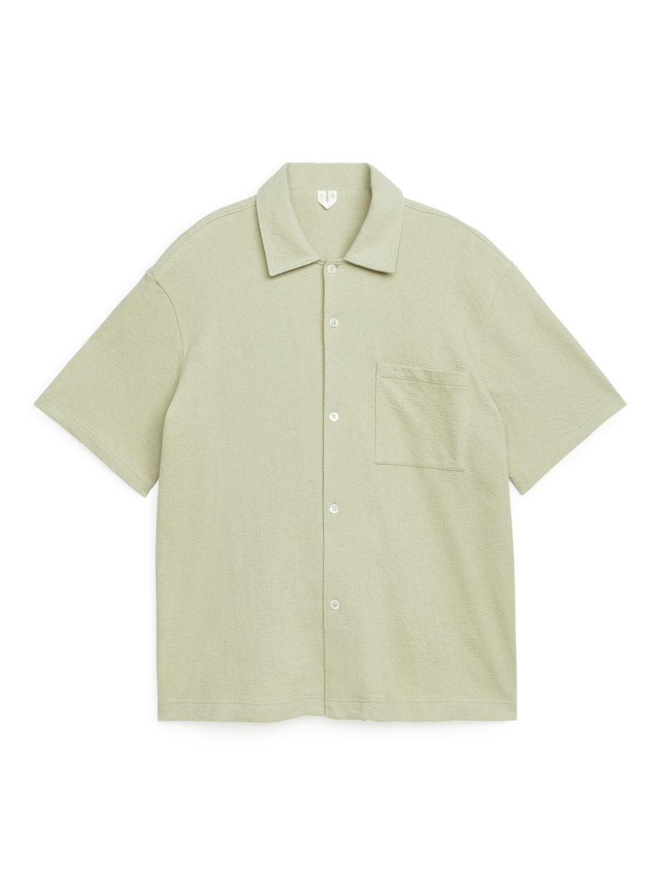 Bouclé Jersey Shirt - Yellow