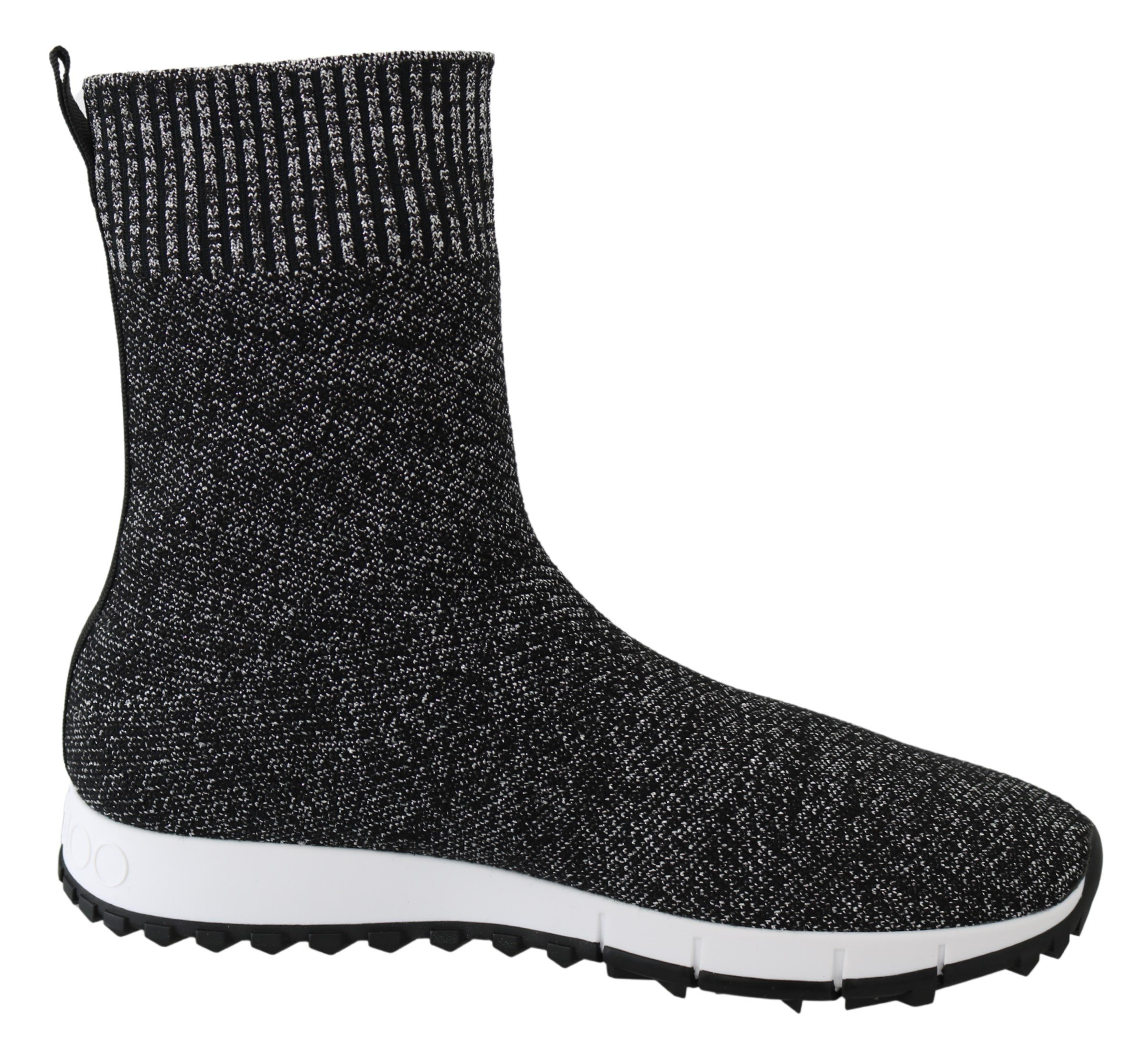 Jimmy Choo Women's Norway Lurex Mix Sneakers Black|Silver 192954712136 - EU37/US7