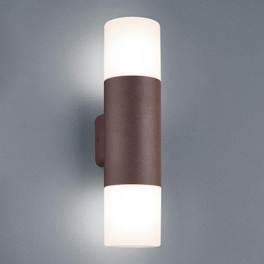 Ulkoseinävalo Hoosic, 2-lamp., ruosteenvärinen