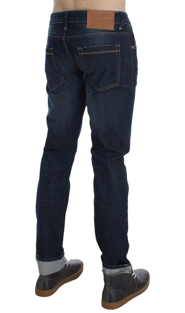 ACHT Men's Stretch Slim Skinny Fit Jeans Blue SIG30535 - W34