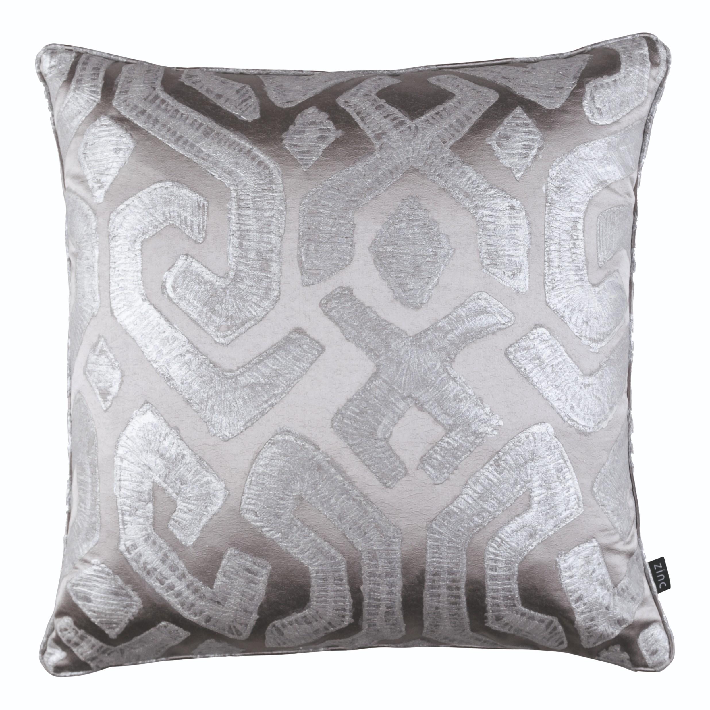 Zinc Romo I Dammuso Cushion   Silver Grey 50x50cm