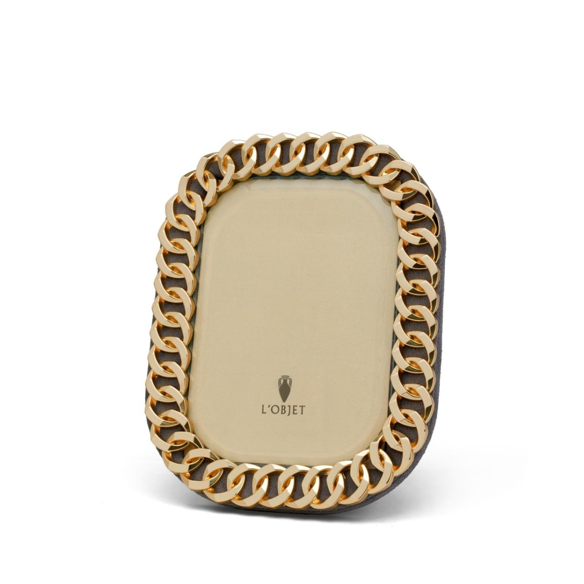 L'objet I Cuban Link Gold Photo Frame | 4 x 6
