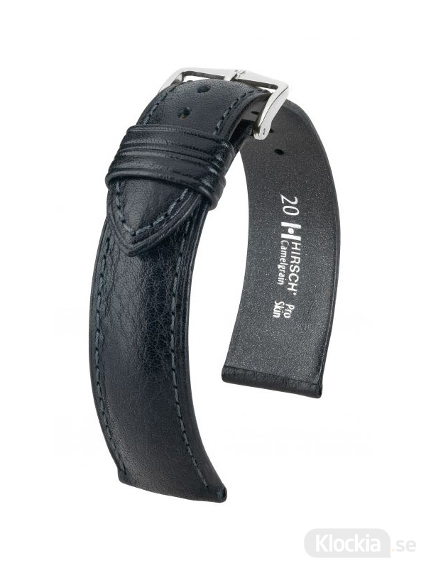 Hirsch Camelgrain 22mm Large Svart/Silver 01009050-2-22