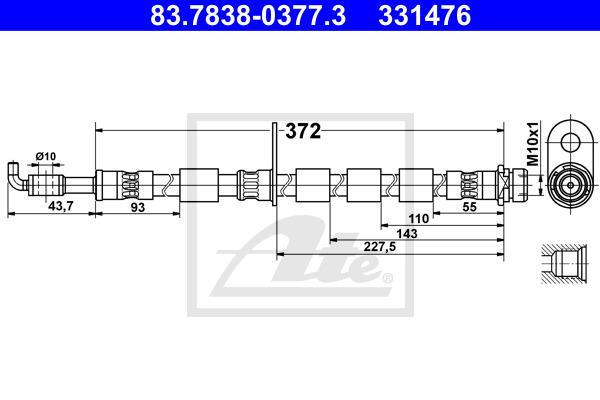 Jarruletku ATE 83.7838-0377.3