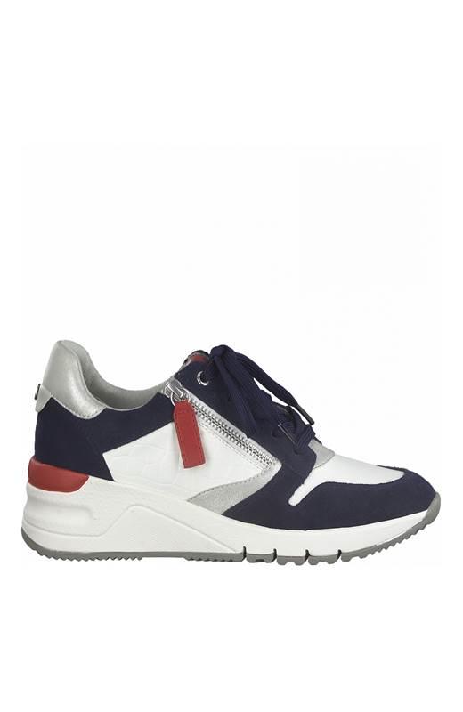 Tamaris Sneakers Marin Vit Röd