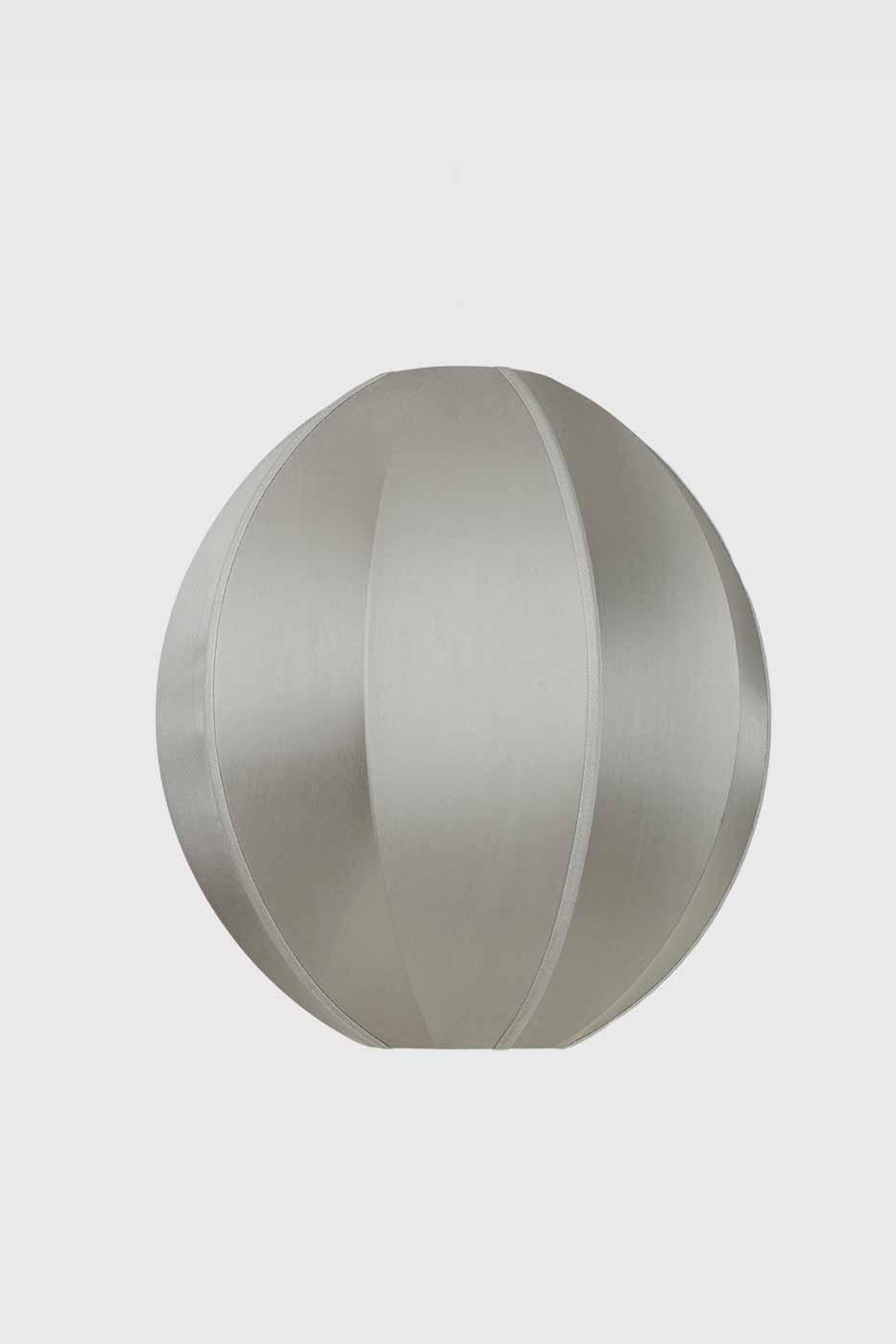 Taklampa silk Oval 35x40 cm grey