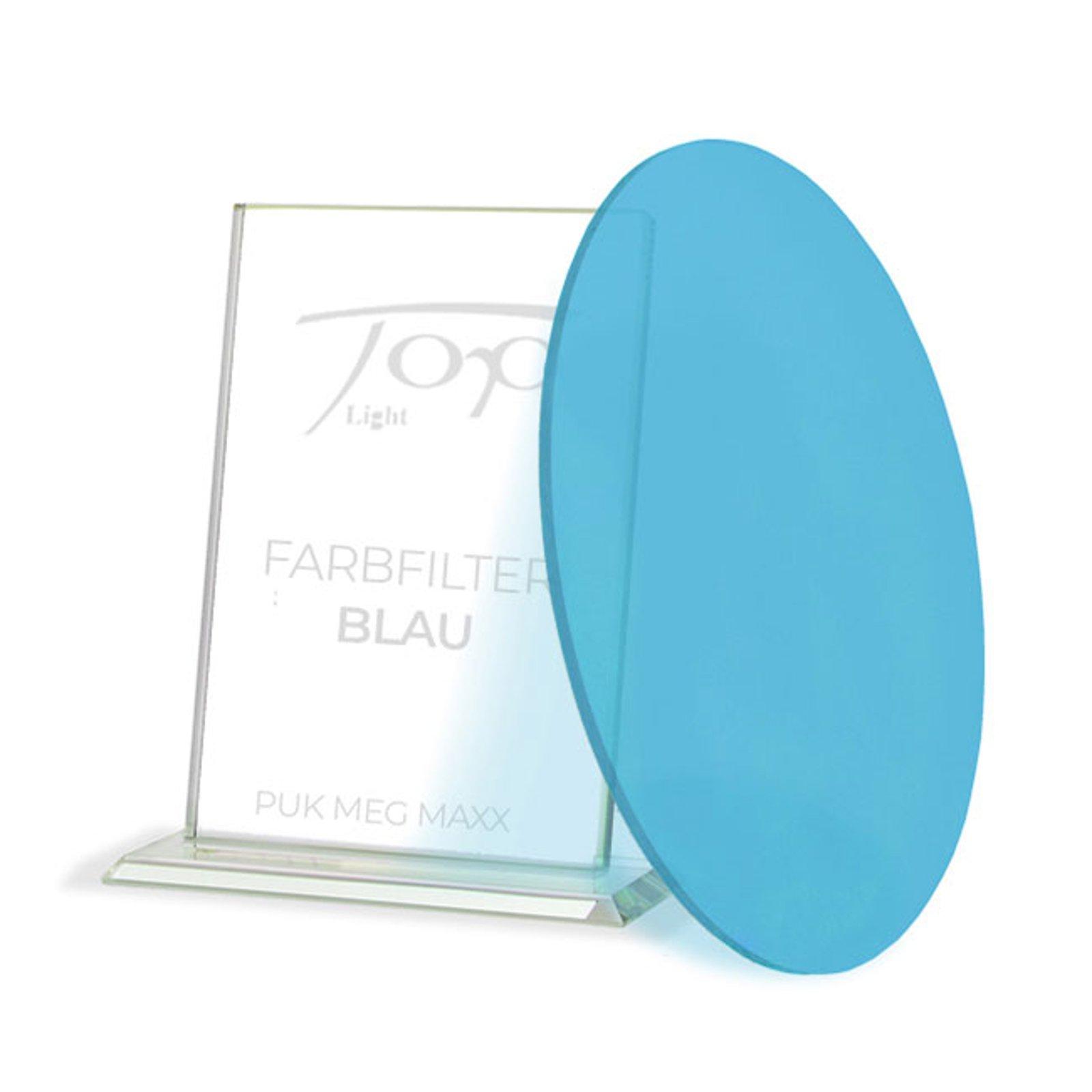 Fargefilter for lampeserien Puk Meg Maxx, blå