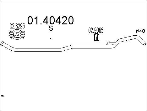 Pakoputki MTS 01.40420