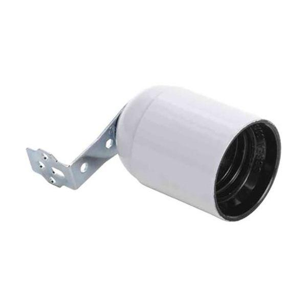 Gelia 100000955 Lampeholder E27, vinkel, glatt