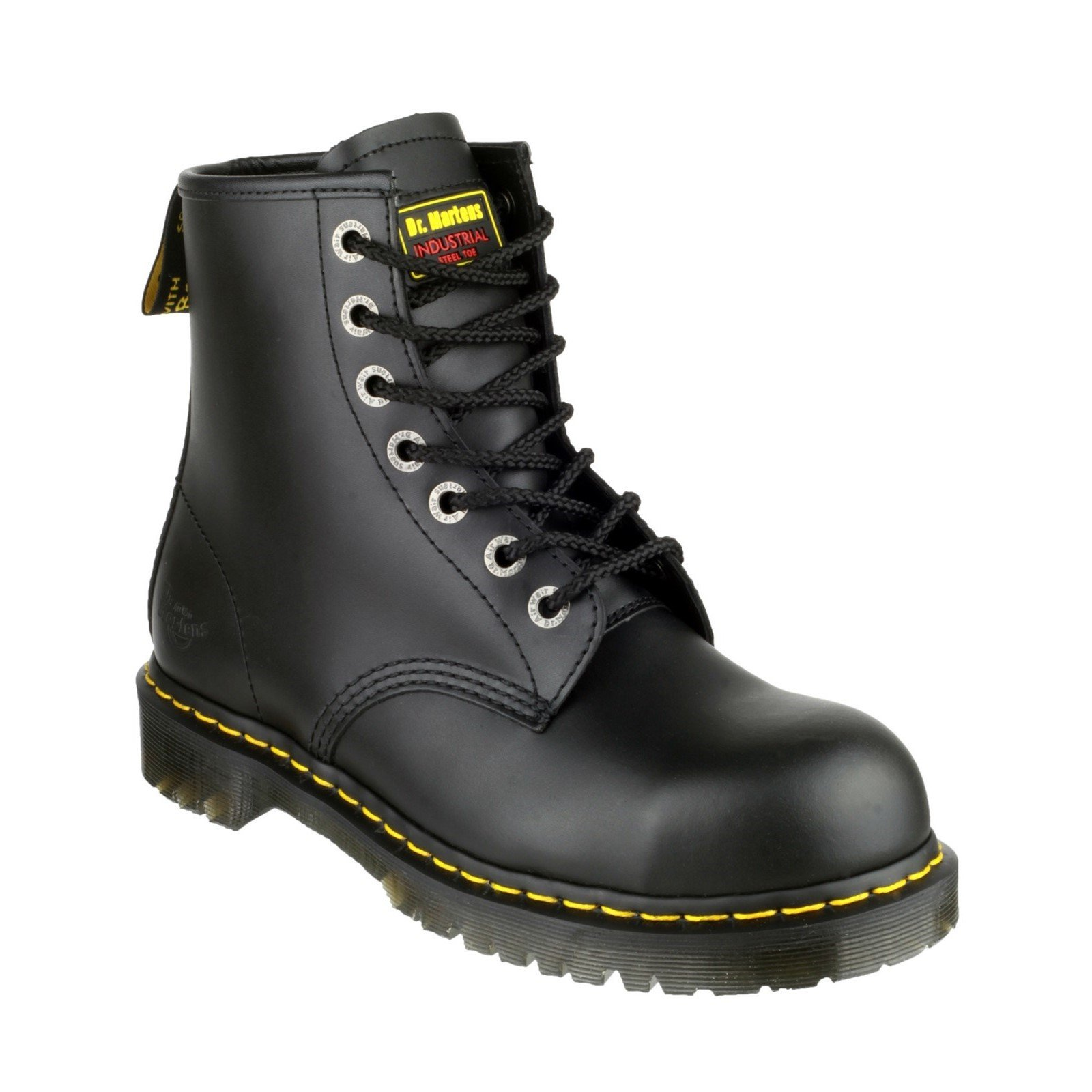 Dr Martens Unisex Icon Lace up Safety Boot Black 19498 - Black 12