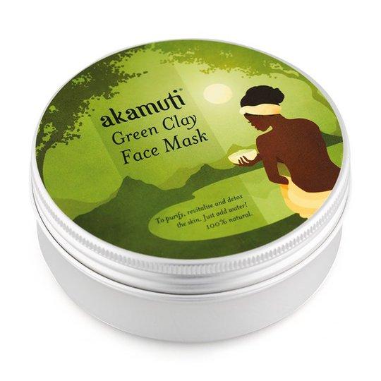 Akamuti Green Clay Face Mask, 100 g