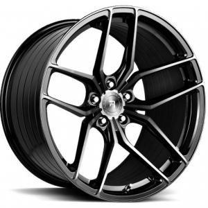 R-Series R8 Gloss Black Tinted Face 10x20 5/112 ET50 B66.6
