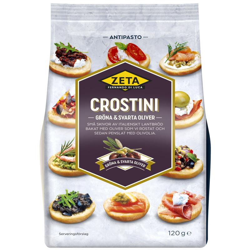 Crostini Gröna & Svarta Oliver 120g - 40% rabatt