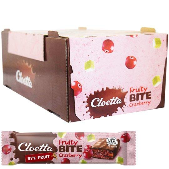 "Hel Låda Frukt-, Müsli- & Chokladbars ""Cranberry"" 35 x 30g - 67% rabatt"