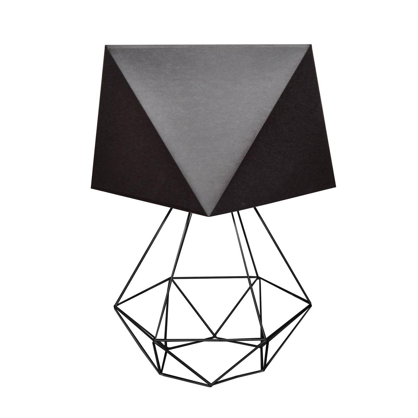 Bordlampe Karo med burfot, høyde 57 cm, svart