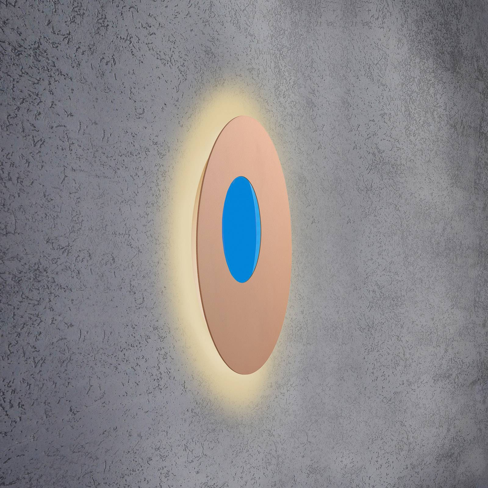 Escale Blade Open -LED-seinävalo RGB+W roosa 59cm