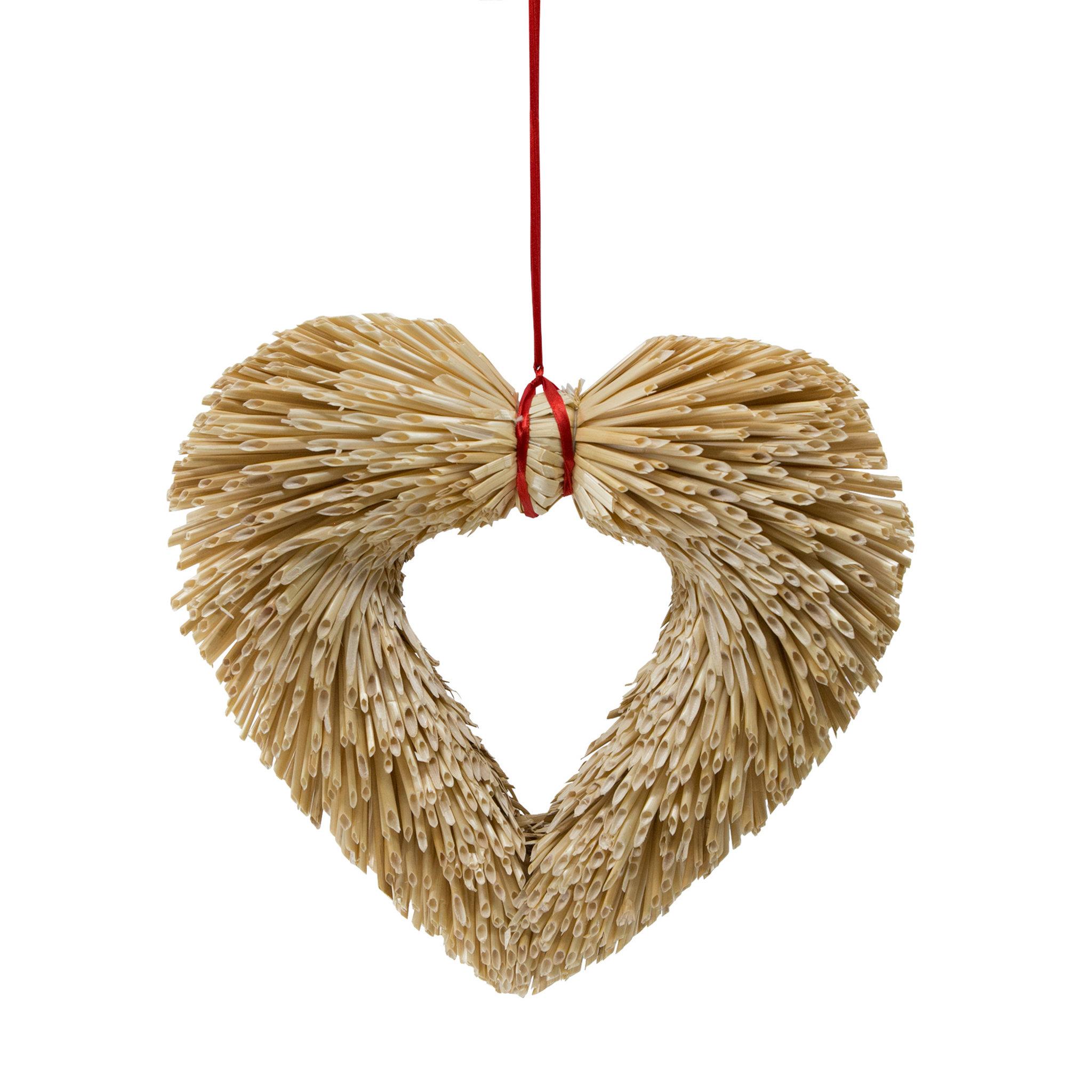 Dörrkrans Hjärta i halm 30 cm