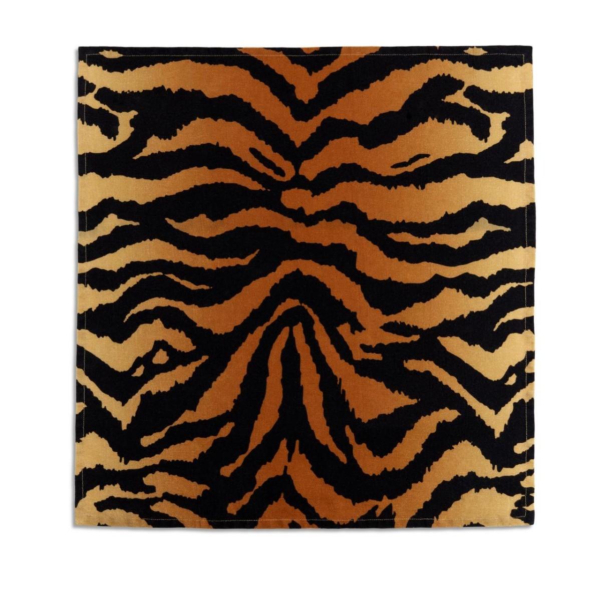 L'Objet I Linen Sateen Napkins (set of 4) I Tiger - Natural