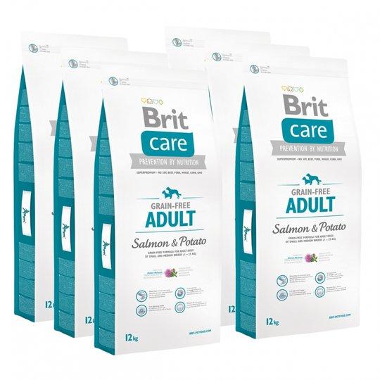 Brit Care Dog Adult Grain Free Salmon & Potato 6x12 kg