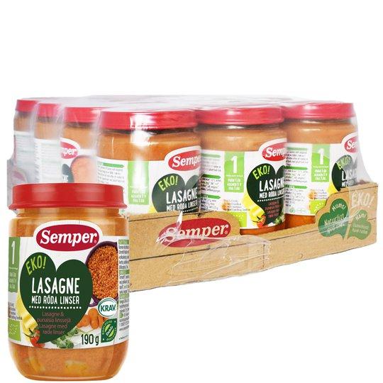 Hel Låda Barnmat Lasagne 12 x 190g - 39% rabatt