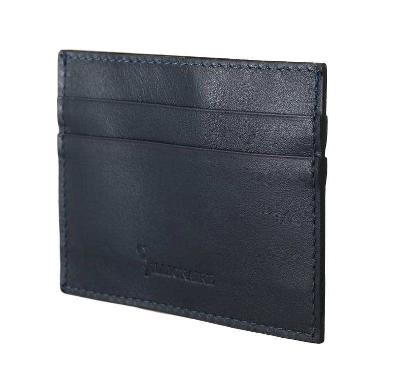 Billionaire Italian Couture Men's Leather Cardholder Wallet Blue VAS1451
