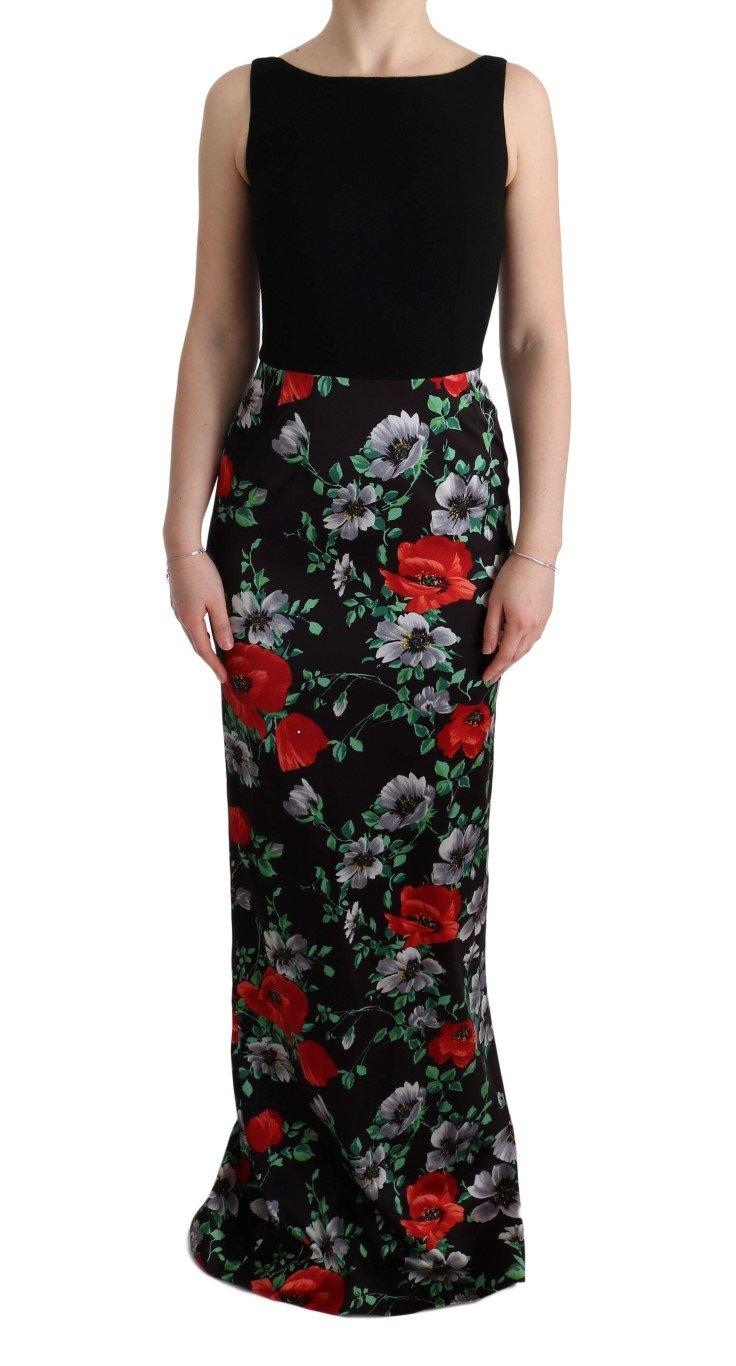 Dolce & Gabbana Women's Floral Print Stretch Sheath Dress Multicolor SIG60623 - IT40 S