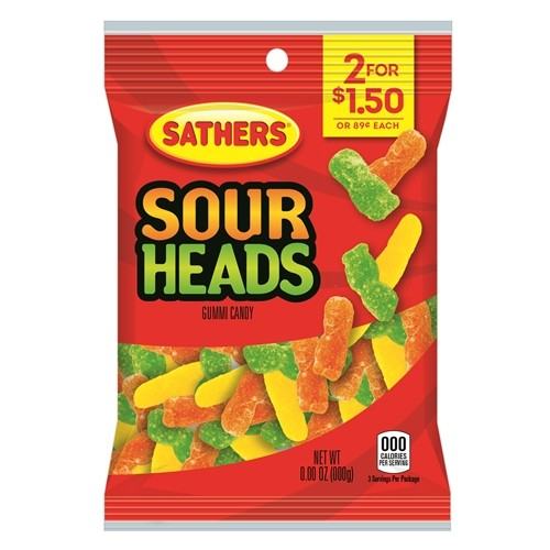Sathers Sour Heads 85g