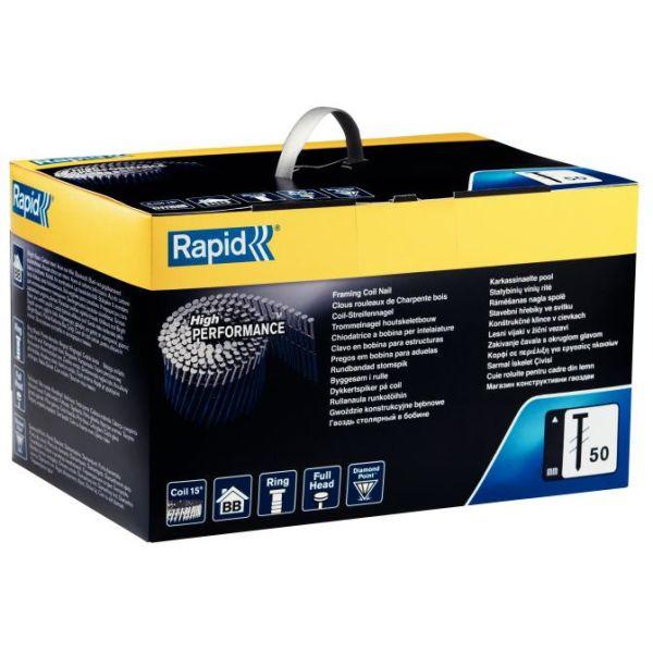 Rapid 50 Rundbåndet spiker 50 mm, 3600-pakning
