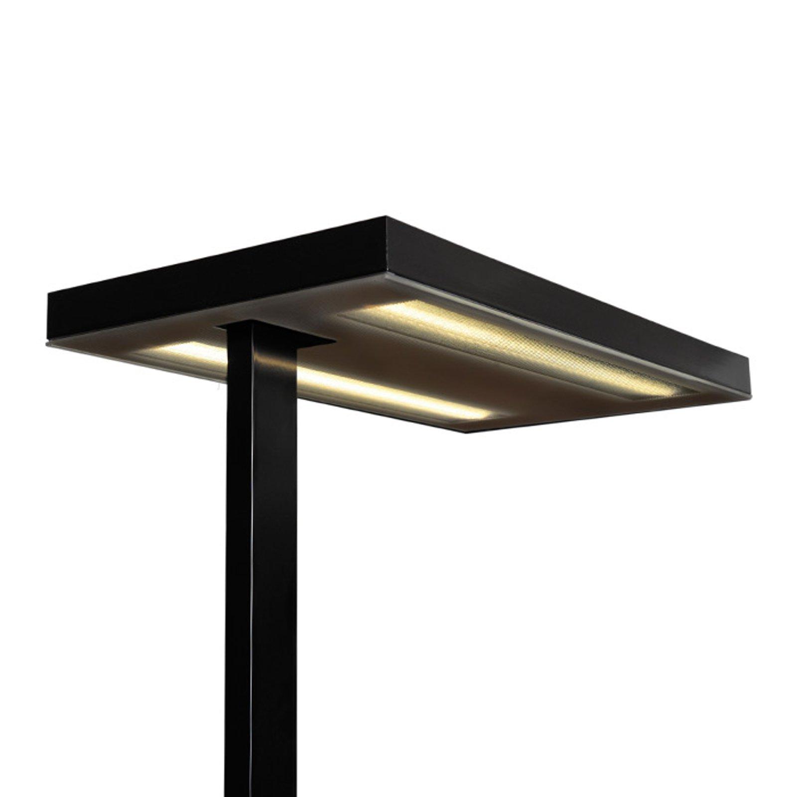 Kontorlampe gulv Free-F LED 10000 HF 840 CP2 svart