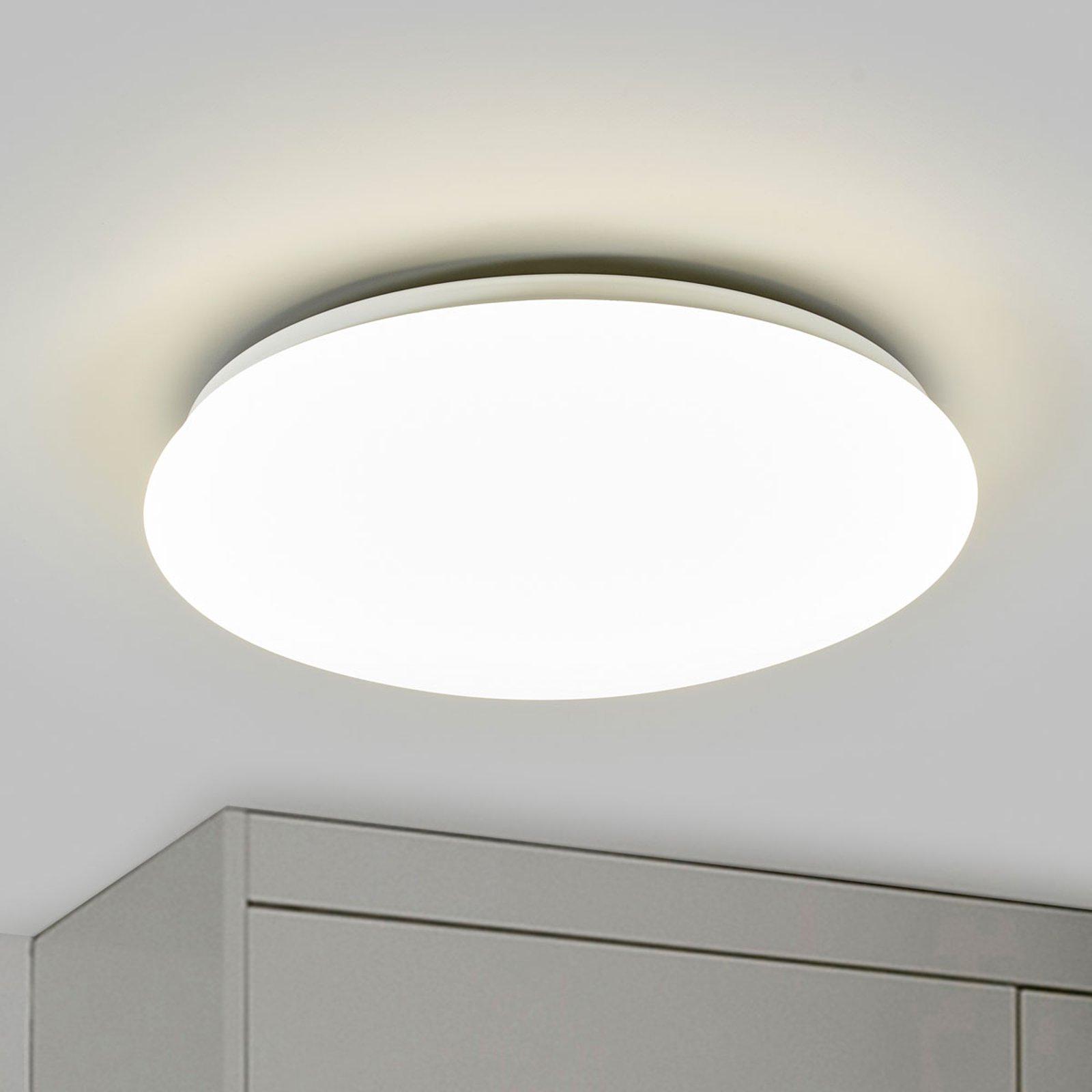 Hvit LED-taklampe Suede