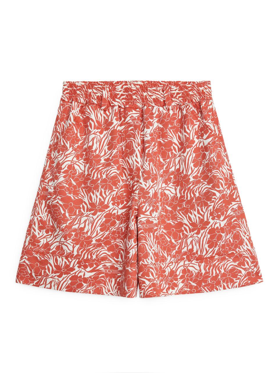 Fluid Twill Shorts - Orange