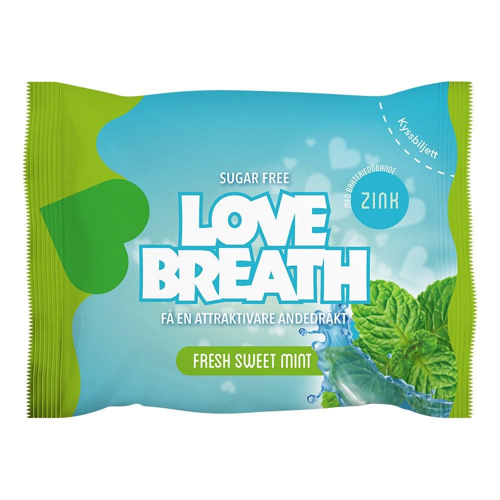Love Breath Sugtabletter - Fresh Sweet Mint