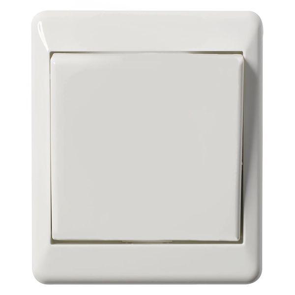 Elko EKO03622 Strømbryter utenpåliggende, hvit Kryss