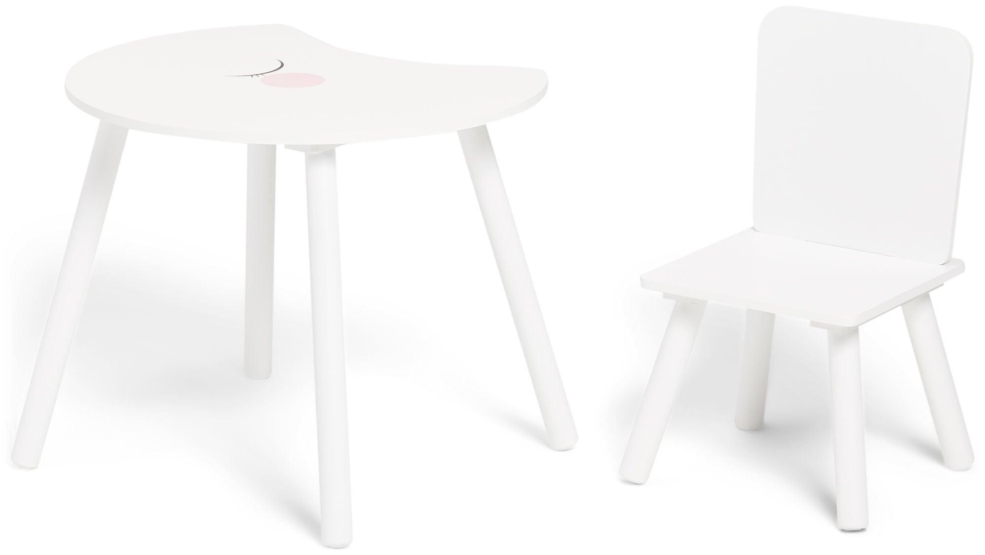 Alice & Fox Pöytä + Tuoli Kuu, Valkoinen