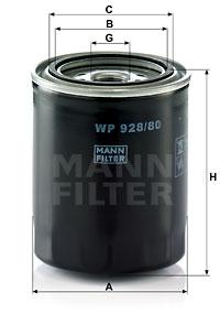 Öljynsuodatin MANN-FILTER WP 928/80