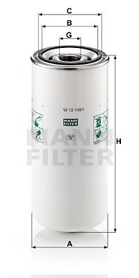 Öljynsuodatin MANN-FILTER W 13 145/1