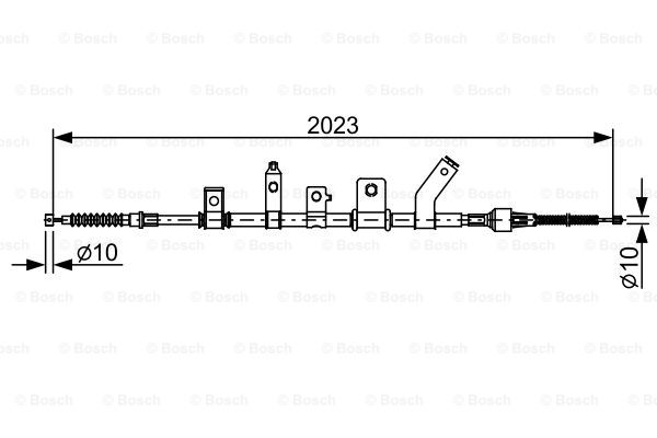 Cable, parking brake BOSCH 1 987 482 515