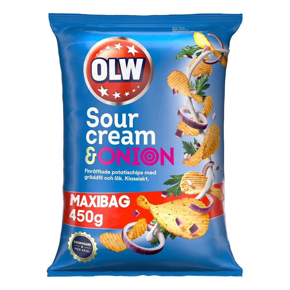 OLW Maxibag Sourcream & Onion - 450 gram