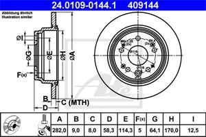 Jarrulevy, Taka-akseli, HONDA CR-V II, 42510-S9A-N00, 42510-SCA-E00