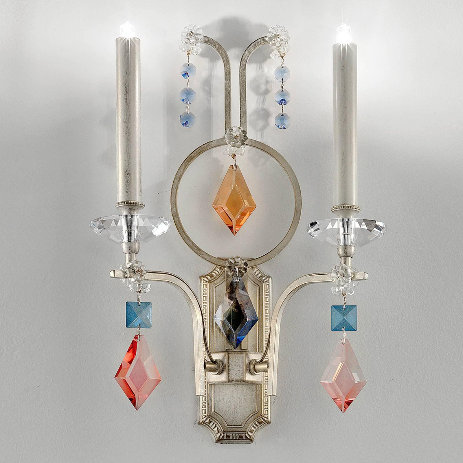 Gracia - vegglampe med dekorative prismer 2 l.