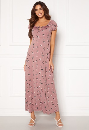 Happy Holly Tessie maxi dress Dusty pink / Patterned 48/50S