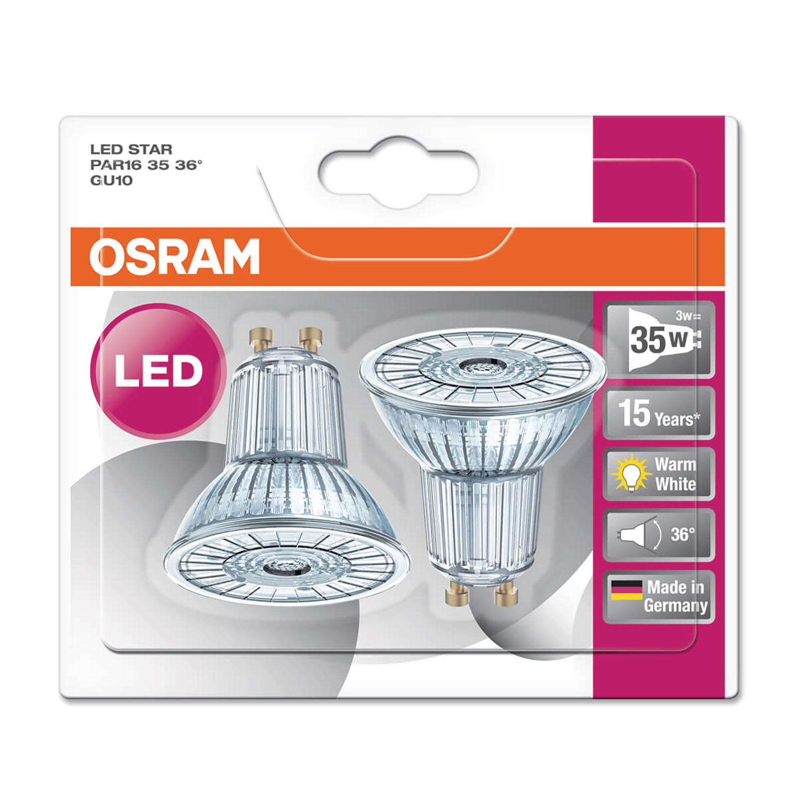 GU10 2,6W 827 LED-heijastinlamppu Star 2 kpl