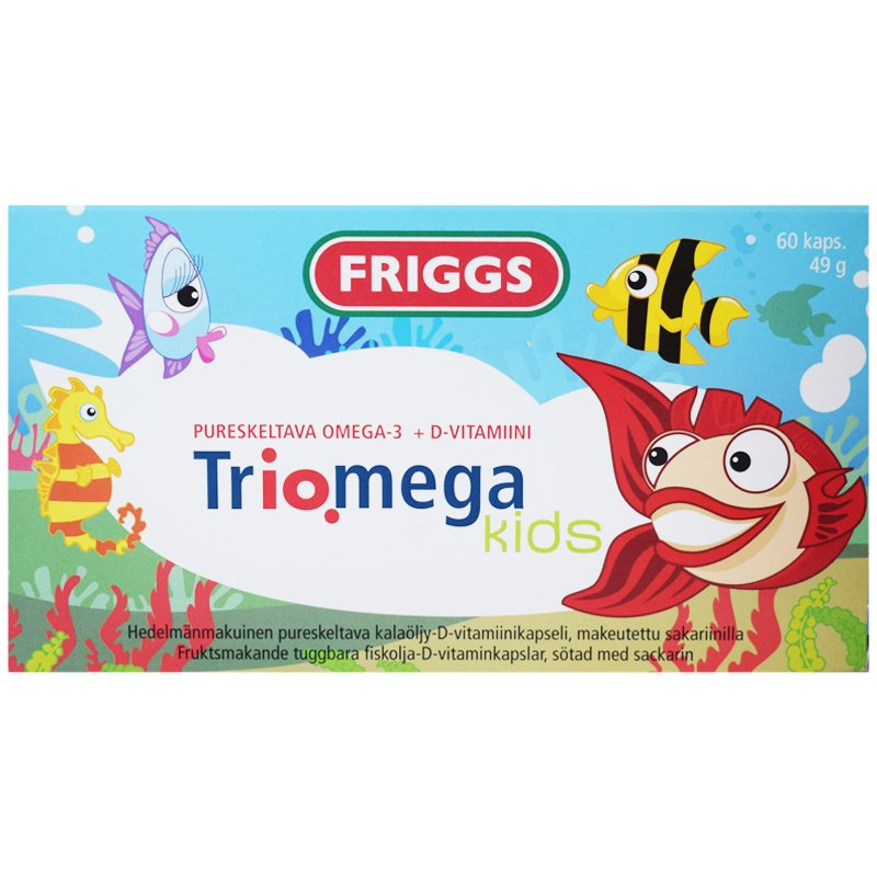 "Ravintolisä ""Triomega Kids"" 49g - 78% alennus"