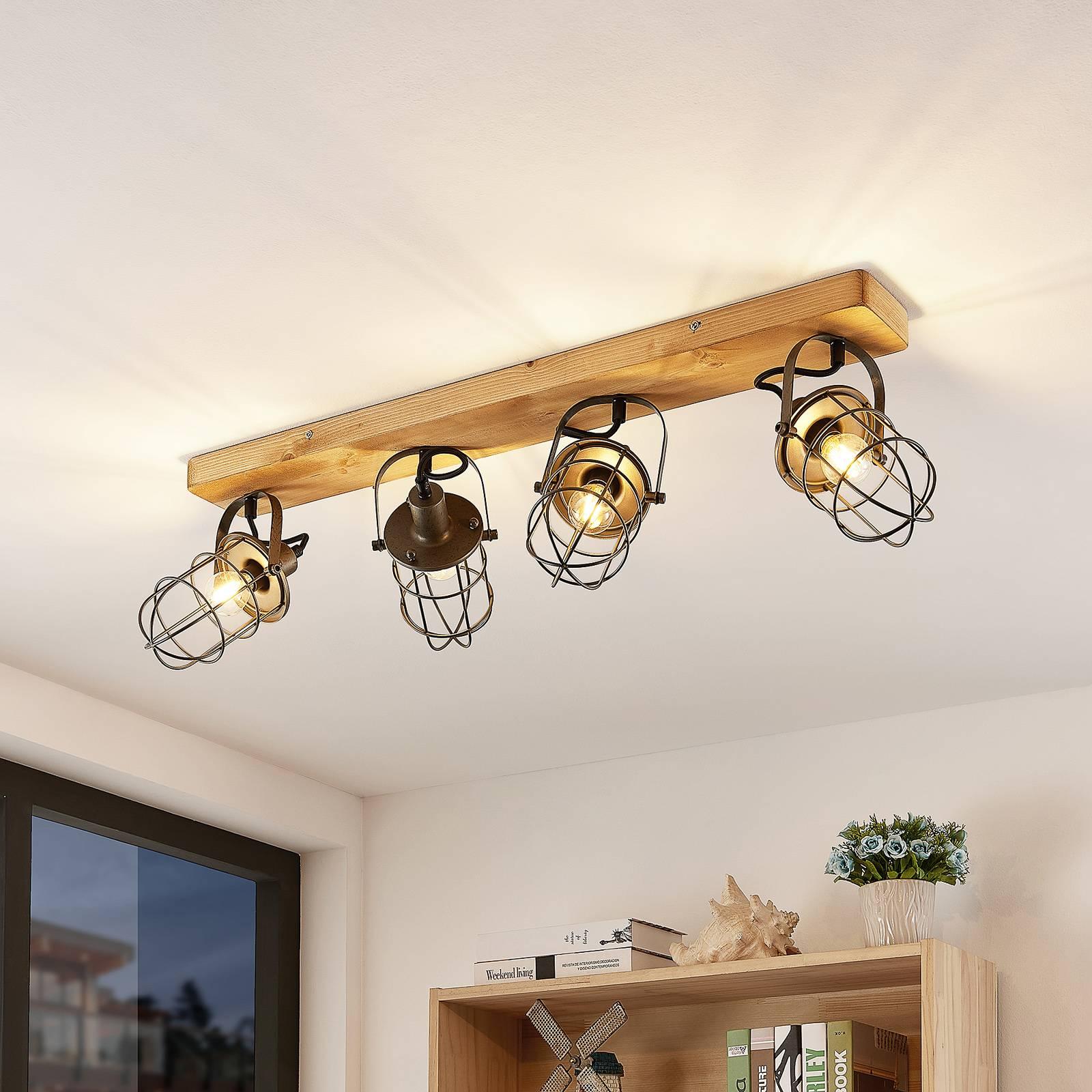 Lindby Serima -kattovalaisin puuta, 4-lamppuinen