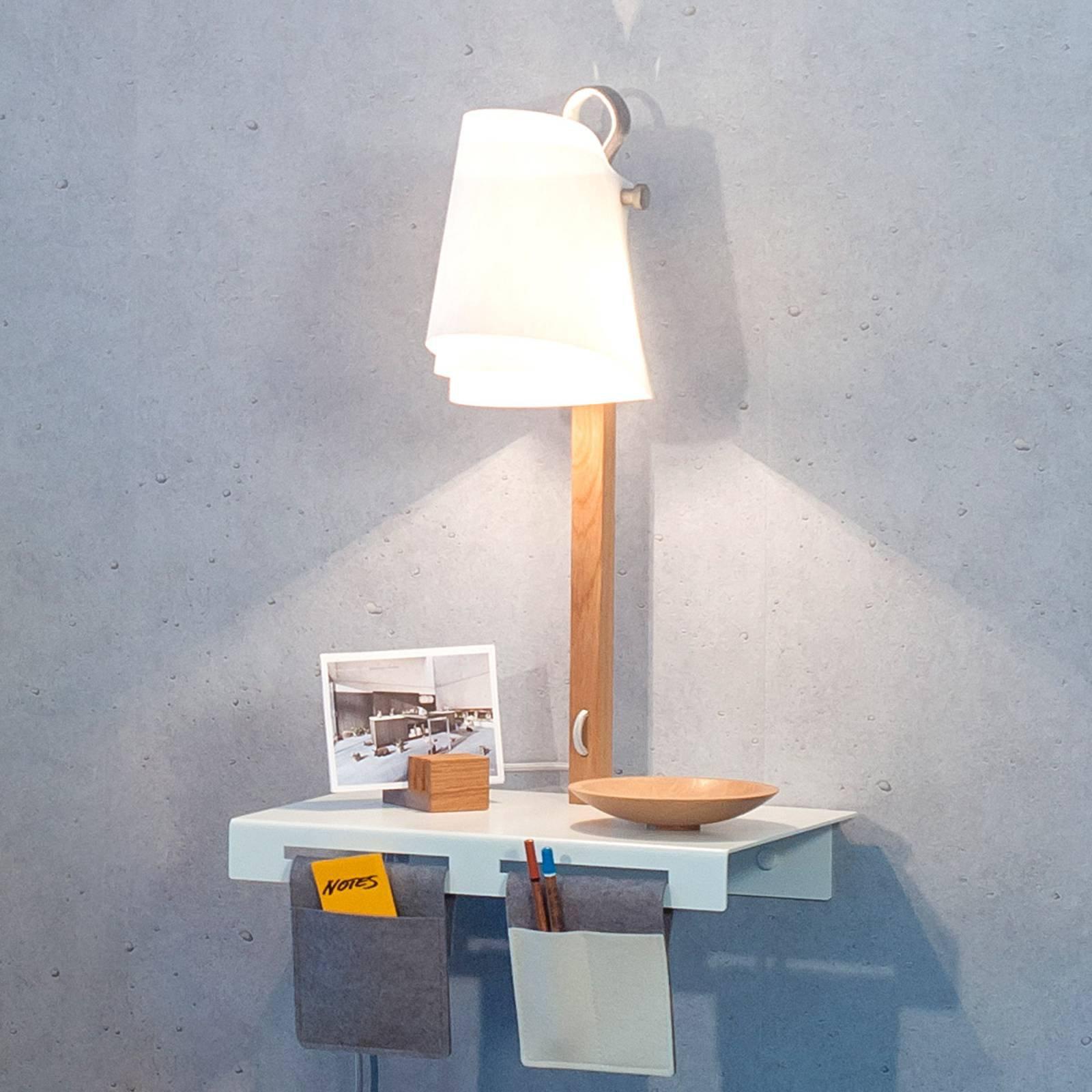 Vegglampe Fläks med oppbevaringsst.