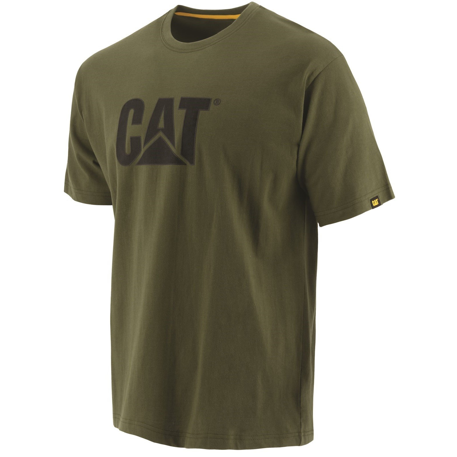 Caterpillar Men's Trademark Logo T-Shirt Various Colours 25301-42086 - Chive 4X